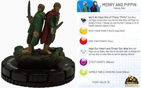 Heroclix: Lord of The Rings: #022 Mary and Pippin (Chase Rare) [SALE]