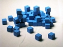 10 MM Wooden Cube Tokens (100 Pack) -Blue