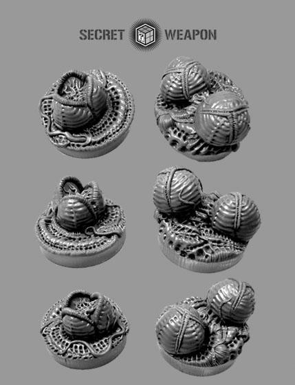 Secret Weapon Miniatures: Objective Markers: Alien Invasion 25mm Markers