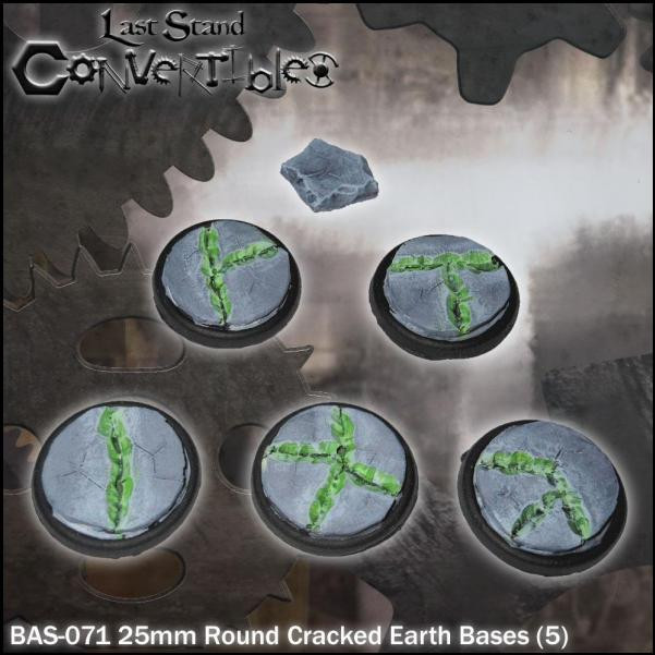 Last Stand Convertibles: Round 25mm: Cracked Earth (5)