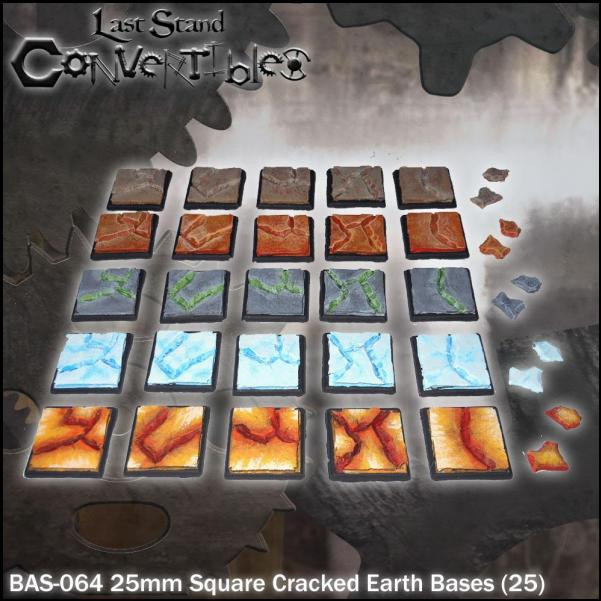 Last Stand Convertibles: Square 25mm: Cracked Earth (25)