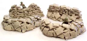 28mm WWII Terrain: Sandbag Assortment (4 pieces)