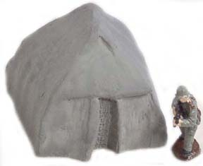 28mm WWII Terrain: Small Tent (3)