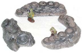 28mm WWII Terrain: Tire Defensive Positions