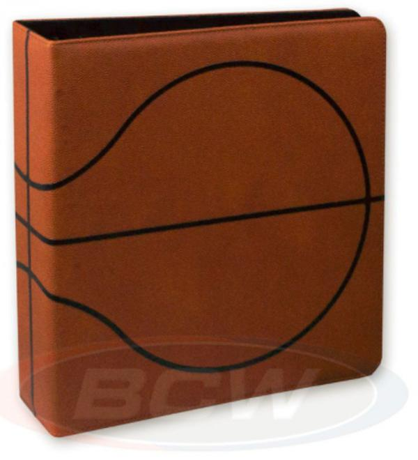 "3"" Basketball Collectors Album- Premium Brown"
