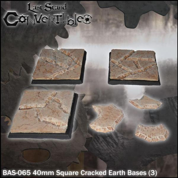 Last Stand Convertibles: Square 40mm: Cracked Earth (3)