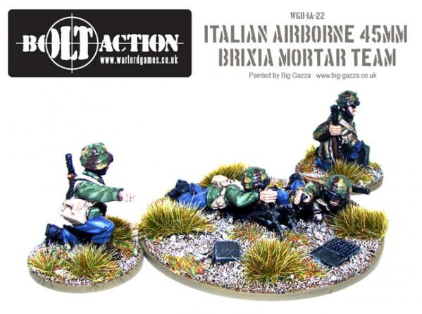 Bolt Action: Italian: Airborne 45mm Brixia Mortar Team