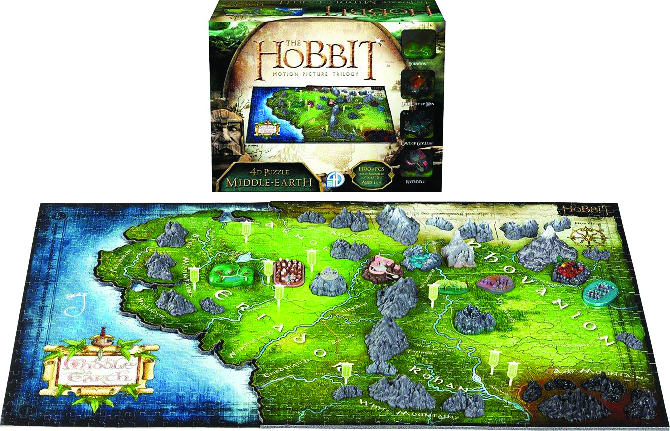 4D Cityscape Puzzle: The Hobbit- Middle Earth