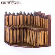 4Ground Miniatures: 28mm Fabled Realms: Corner Palisade Wall