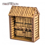 4Ground Miniatures: 28mm Fabled Realms: Palisade Fort Gate