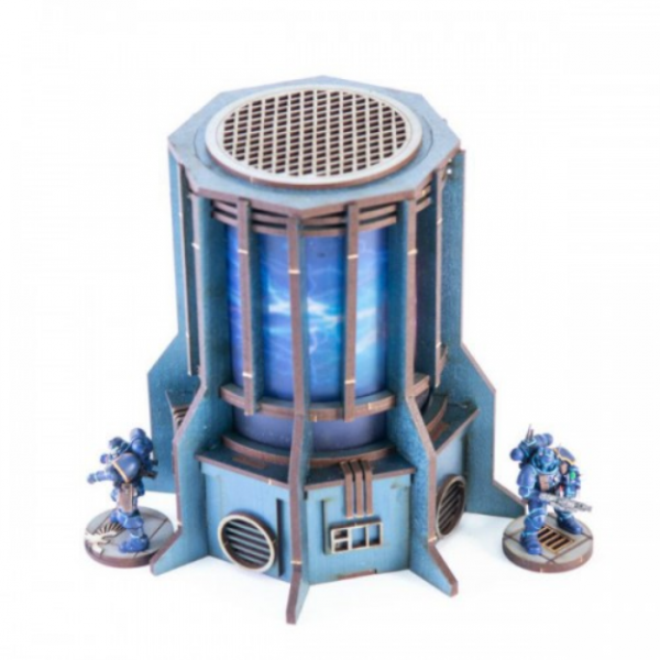 4Ground Miniatures: 28mm Iron Industries: Large Generator (Blue)