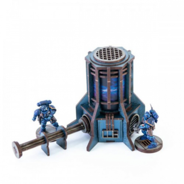 4Ground Miniatures: 28mm Iron Industries: Small Generator (Blue)