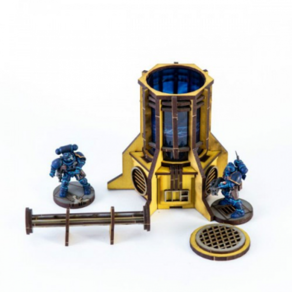 4Ground Miniatures: 28mm Iron Industries: Small Generator (Yellow)