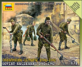 Zvezda Military 1/72 Scale: Soviet Engineers 1941-1942