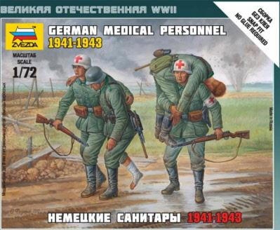 Zvezda Military 1/72 Scale: German Medical Personnel 1941-1943