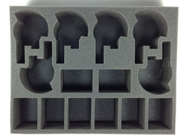 Battlefoam: WH40K: Tau: Tray: 6 New Broadside 8 Crisis Suit