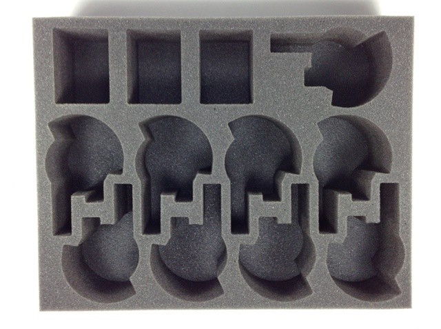 Battlefoam: WH40K: Tau: Tray: 9 New Broadside 3 Crisis Suit