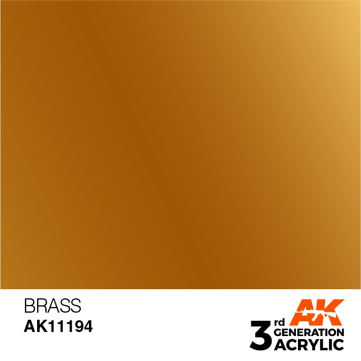 AK-Interactive 3rd Gen Paints: Brass