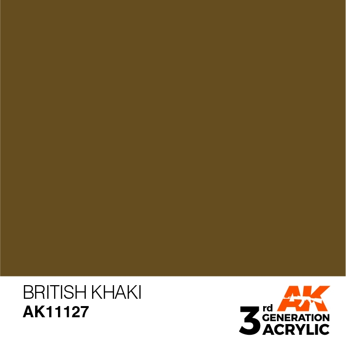 AK-Interactive 3rd Gen Paints: British Khaki