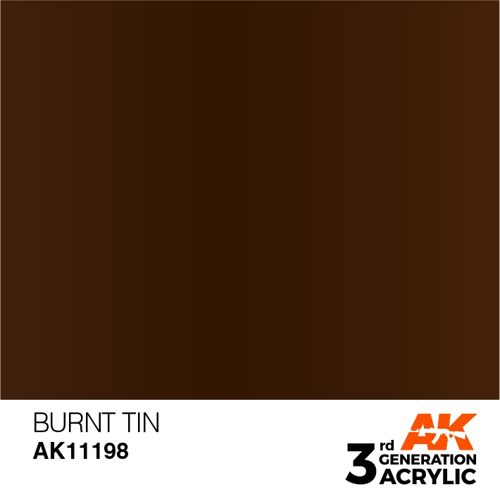 AK-Interactive 3rd Gen Paints: Burnt Tin