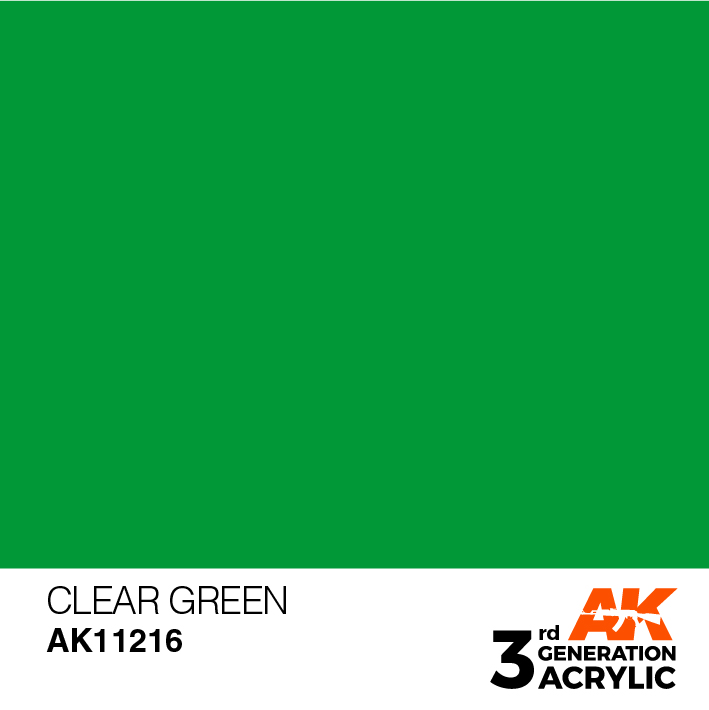 AK-Interactive 3rd Gen Paints: Clear Green