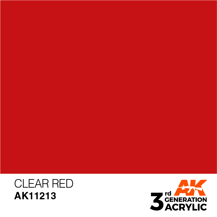 AK-Interactive 3rd Gen Paints: Clear Red