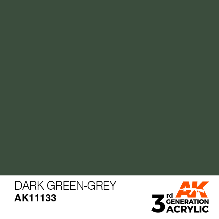 AK-Interactive 3rd Gen Paints: Dark Green-Grey