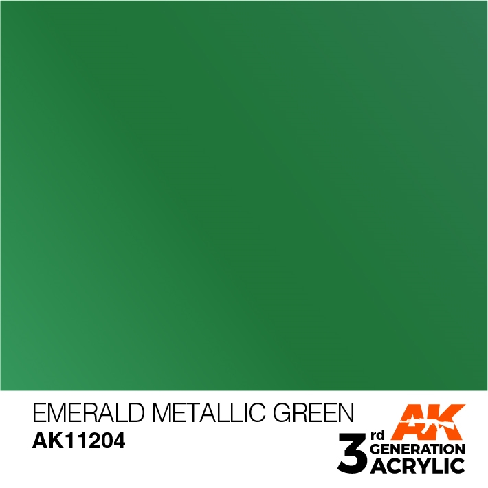 AK-Interactive 3rd Gen Paints: Emerald Metallic Green