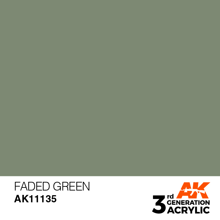 AK-Interactive 3rd Gen Paints: Faded Green