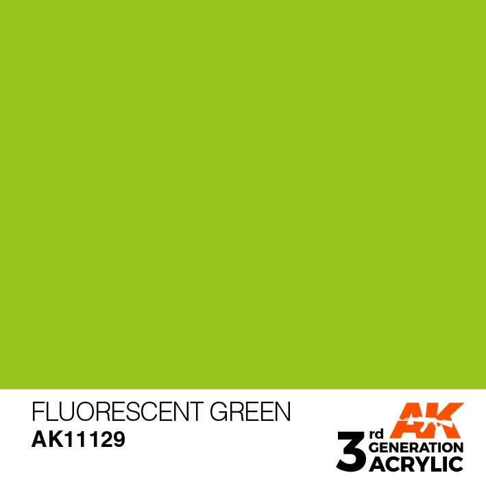 AK-Interactive 3rd Gen Paints: Fluorescent Green