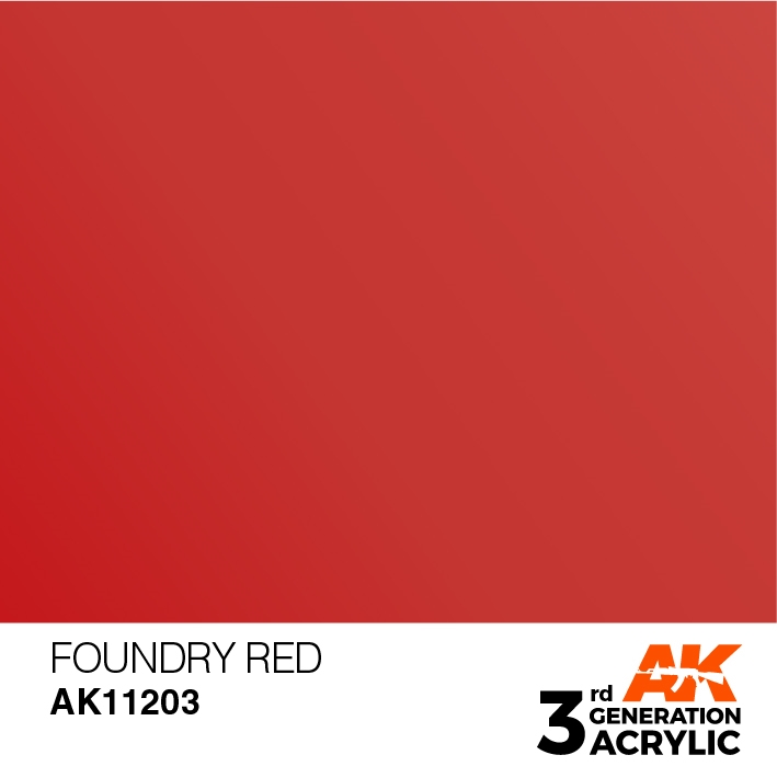 AK-Interactive 3rd Gen Paints: Foundry Red