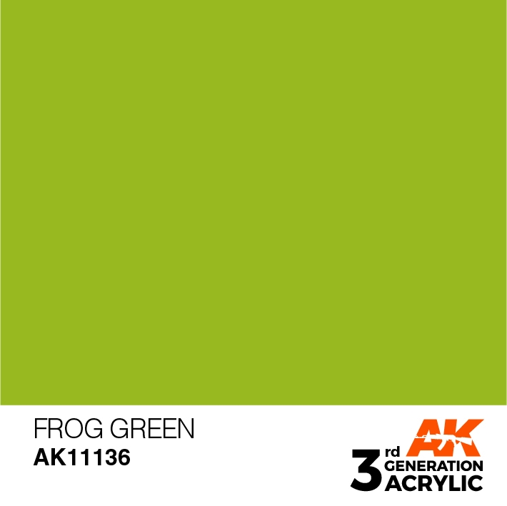 AK-Interactive 3rd Gen Paints: Frog Green