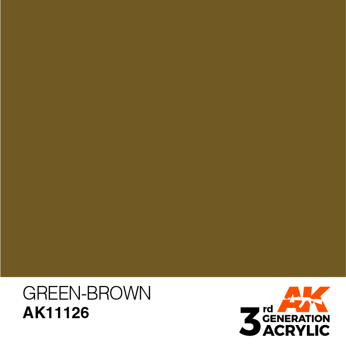 AK-Interactive 3rd Gen Paints: Green-Brown