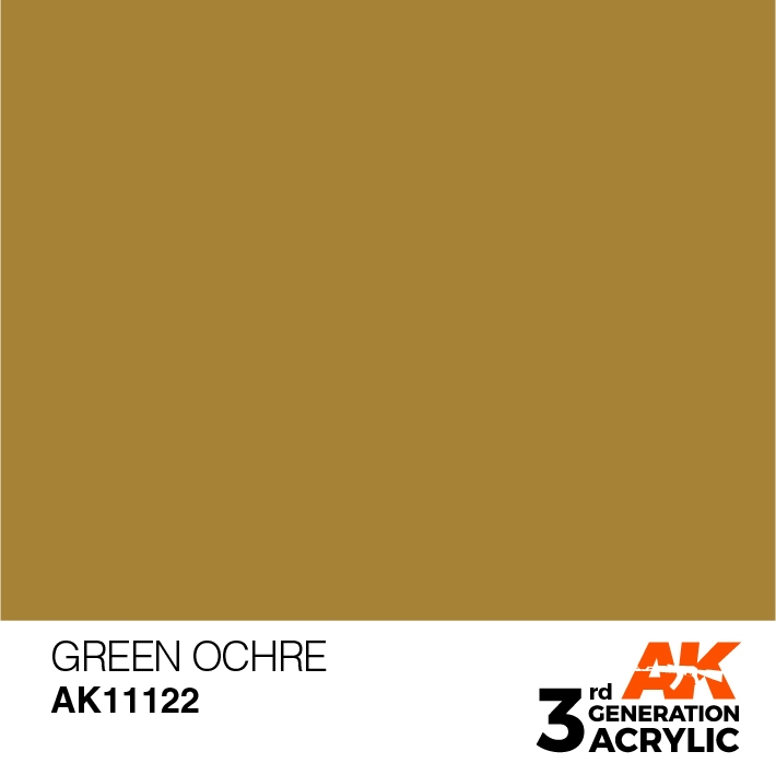AK-Interactive 3rd Gen Paints: Green Ocher