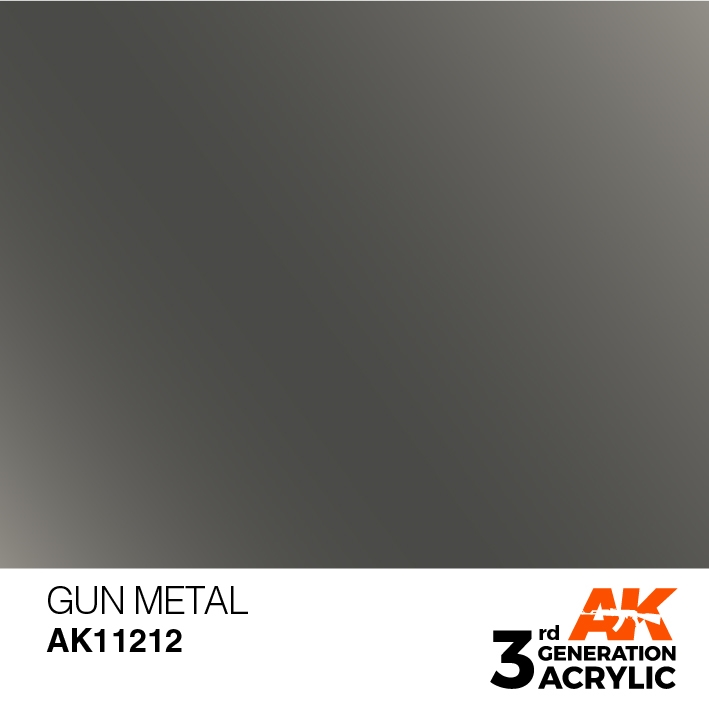 AK-Interactive 3rd Gen Paints: Gun Metal