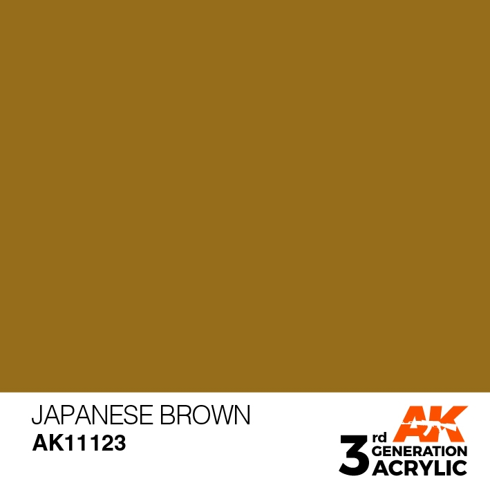 AK-Interactive 3rd Gen Paints: Japanese Uniform Brown