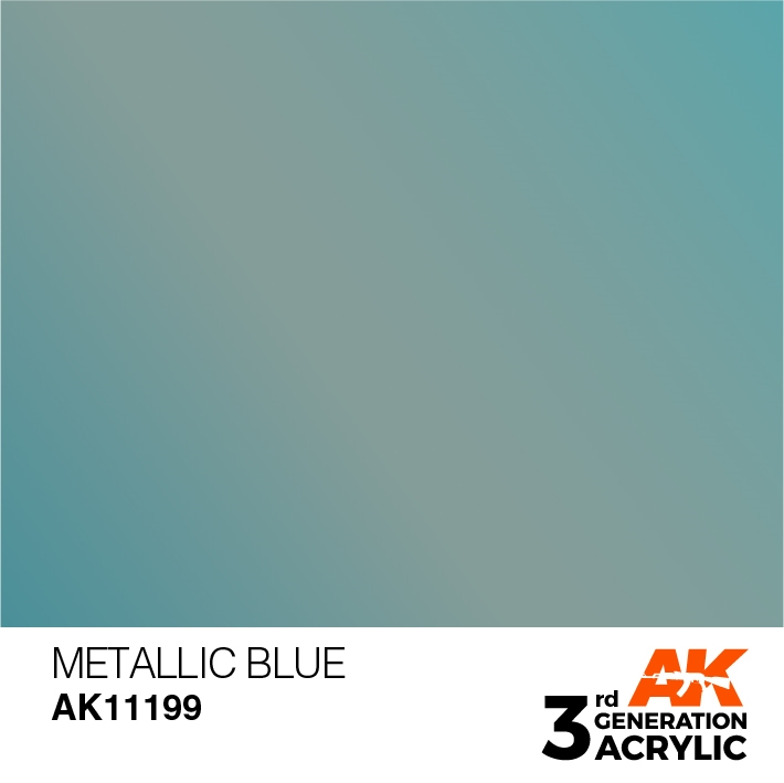 AK-Interactive 3rd Gen Paints: Metallic Blue
