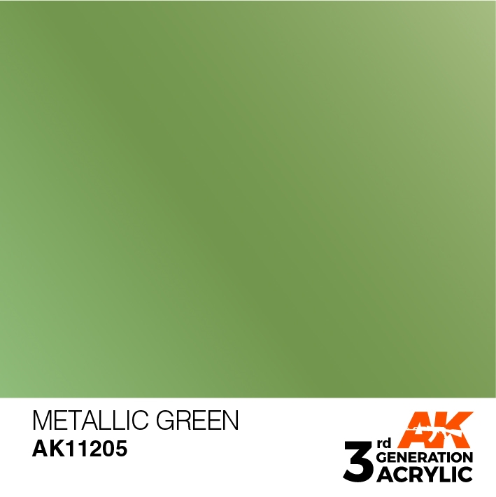 AK-Interactive 3rd Gen Paints: Metallic Green
