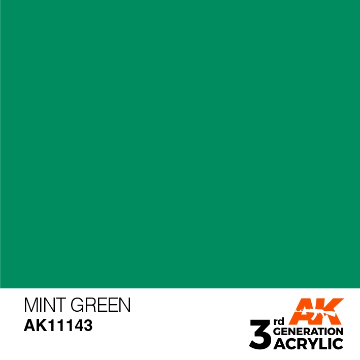 AK-Interactive 3rd Gen Paints: Mint Green