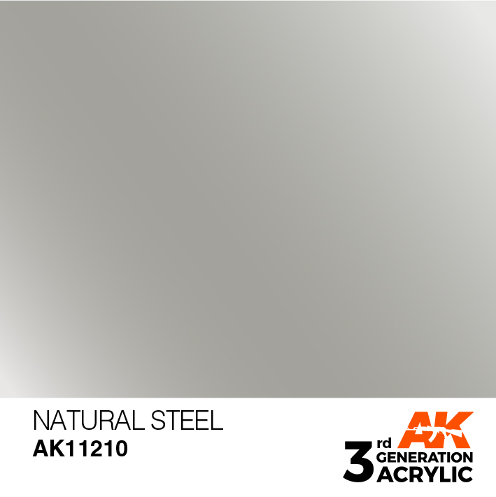 AK-Interactive 3rd Gen Paints: Natural Steel