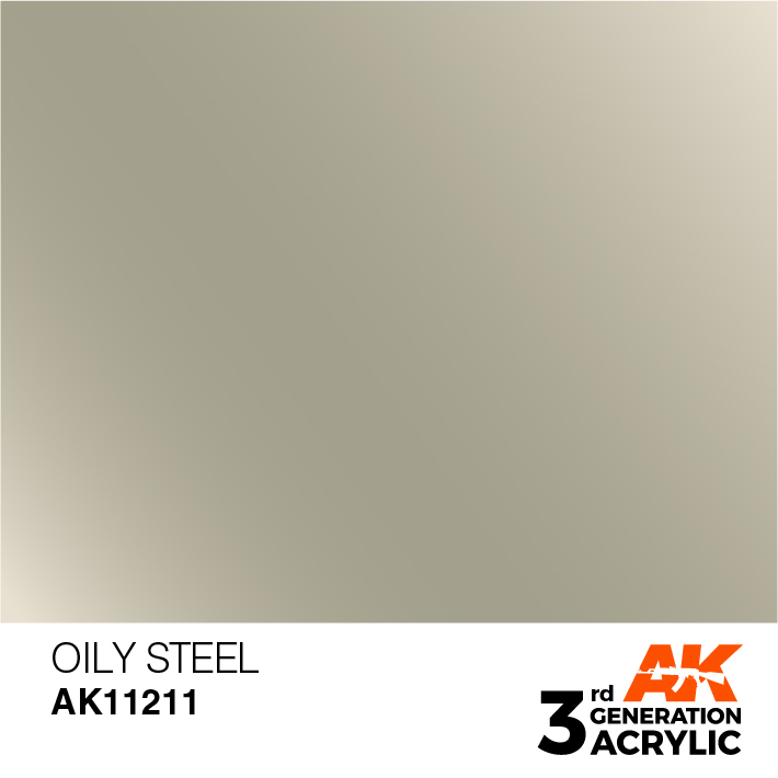 AK-Interactive 3rd Gen Paints: Oily Steel