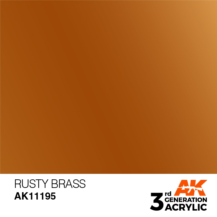 AK-Interactive 3rd Gen Paints: Rusty Brass