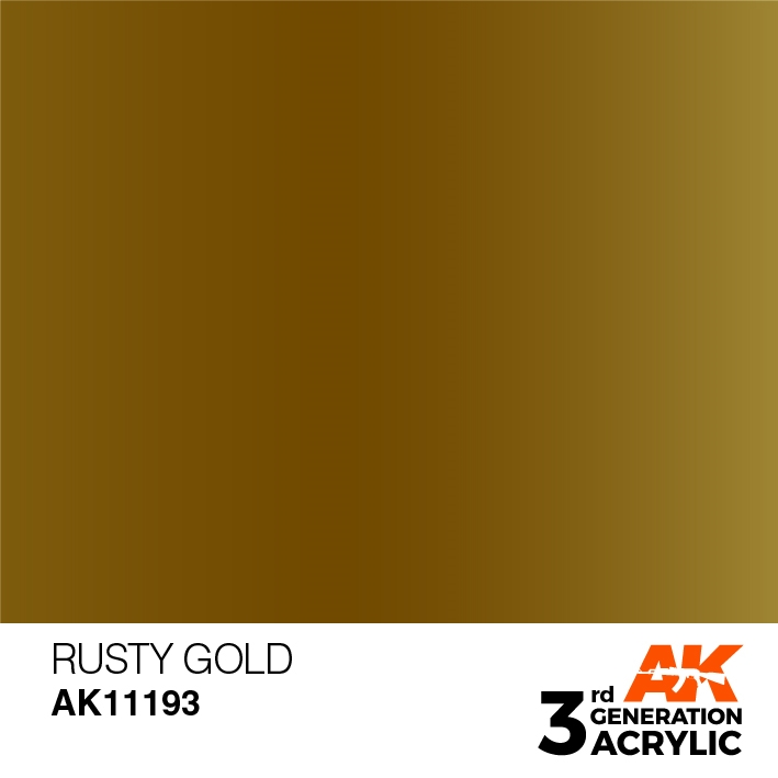 AK-Interactive 3rd Gen Paints: Rusty Gold