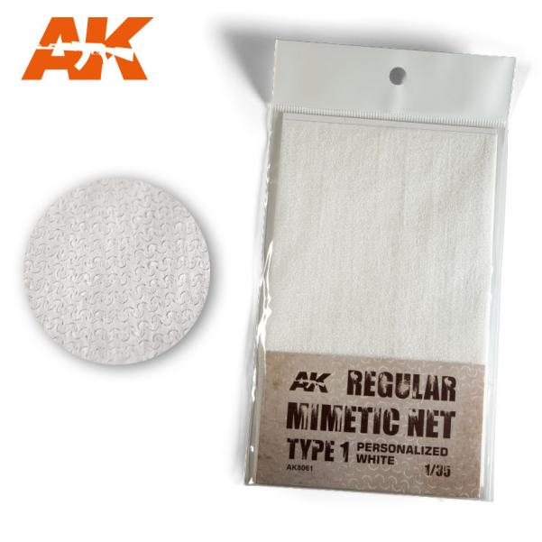 AK-Interactive: Camouflage Mimetic Net type 1 - Personalized White