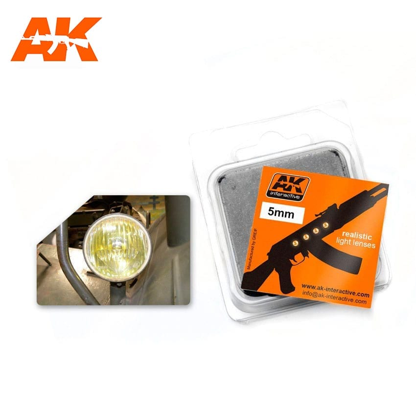 AK Interactive: Light Lenses- Amber 5mm