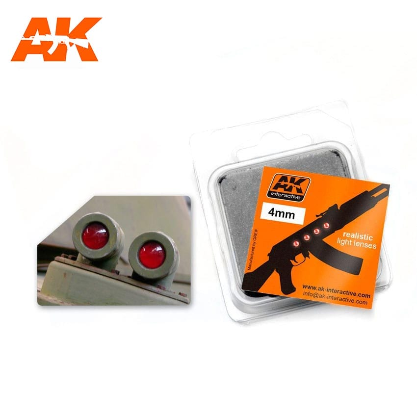 AK Interactive: Light Lenses- Red 4mm