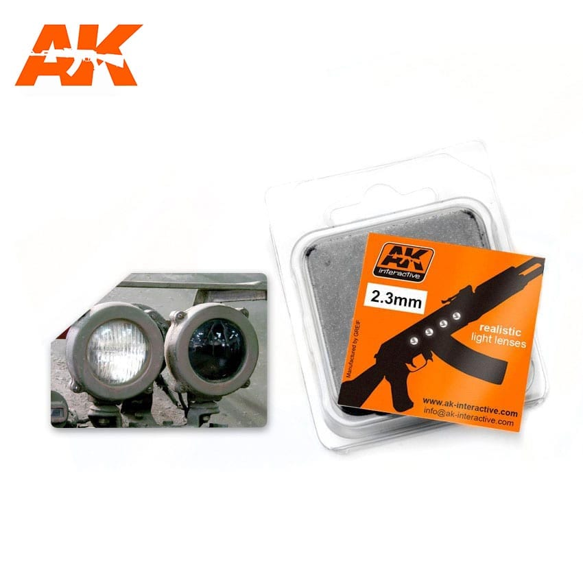 AK Interactive: Light Lenses- White 2.3mm