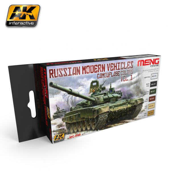 AK-Interactive MENG Color Set: Russian Modern Vehicles Camouflage Colors Vol.1