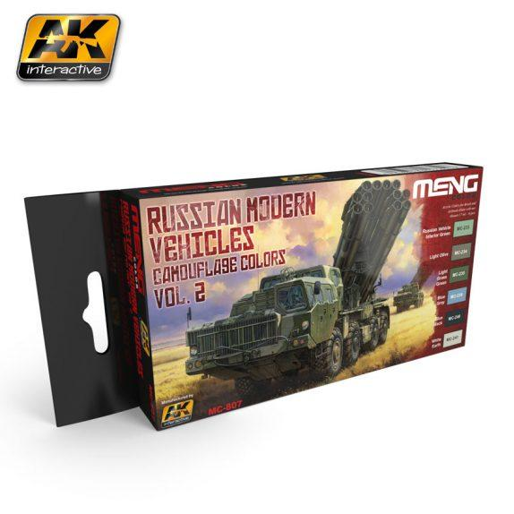AK-Interactive MENG Color Set: Russian Modern Vehicles Camouflage Colors Vol.2