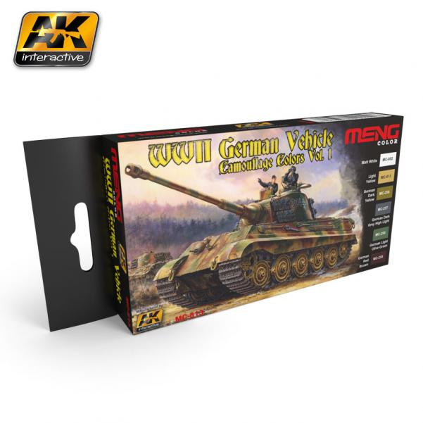 AK-Interactive MENG Color Set: WWII German Vehicle Camouflage Colors Vol.1